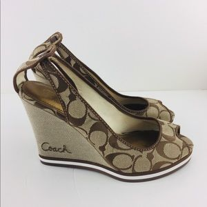 COACH SIGNATURE WEDGE HEELS